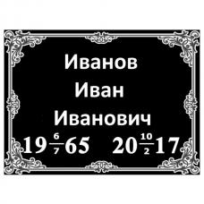 Табличка с данными